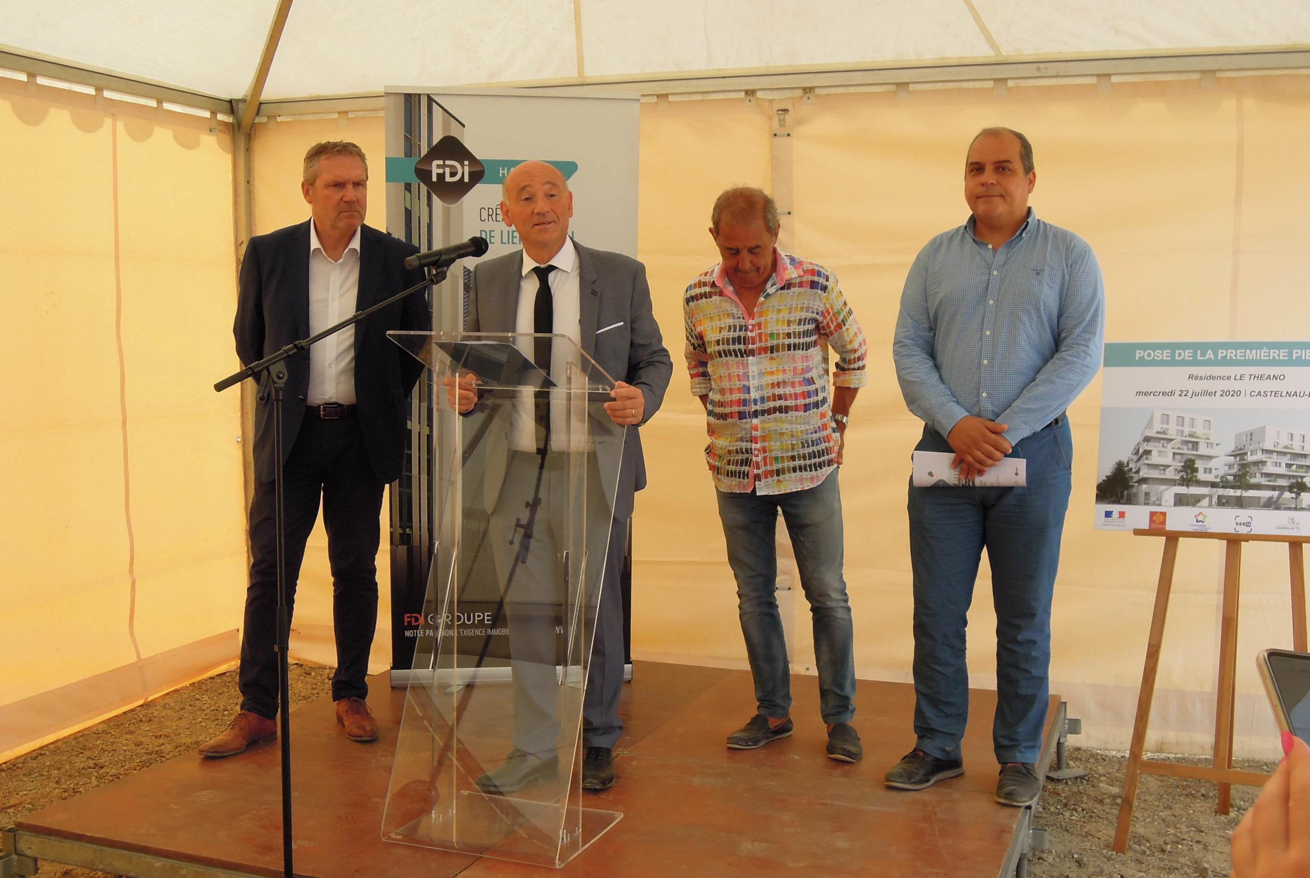 prise de parole de M. , Maire de Castelnau le Lez